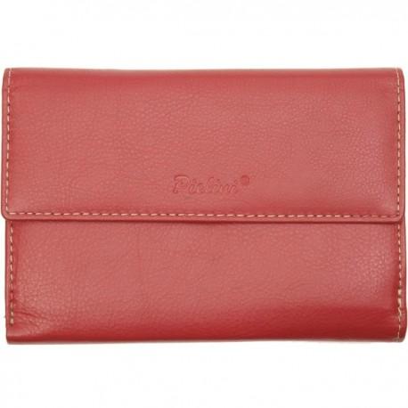 Cartera de Piel Mujer Pielini Mod 3031 Rojo