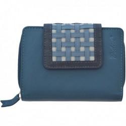 Cartera de Piel Mujer Pielini Mod 3062 Azul