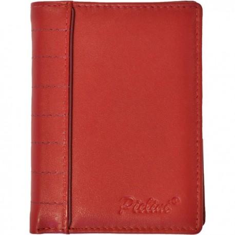Cartera de Piel Hombre Pielini Mod 3064 Rojo